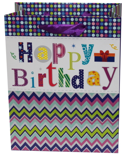 Paper Bag Birthday Purple (L)