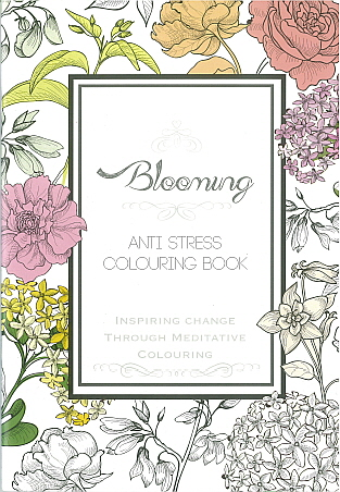 Adult Colouring Book - Blooming