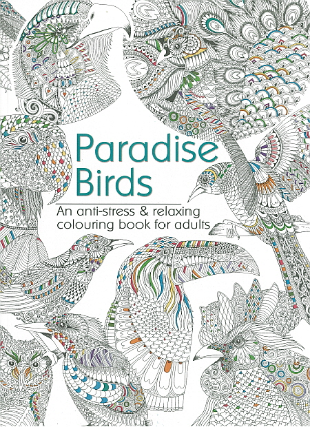 Adult Colouring Book - Paradise Birds