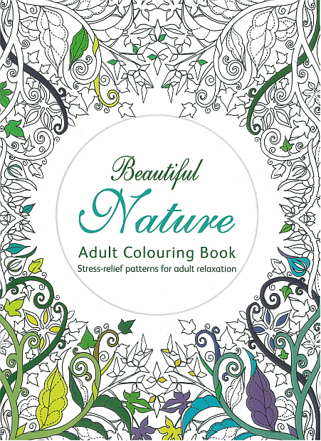 Adult Colouring Book - Beautiful Nature