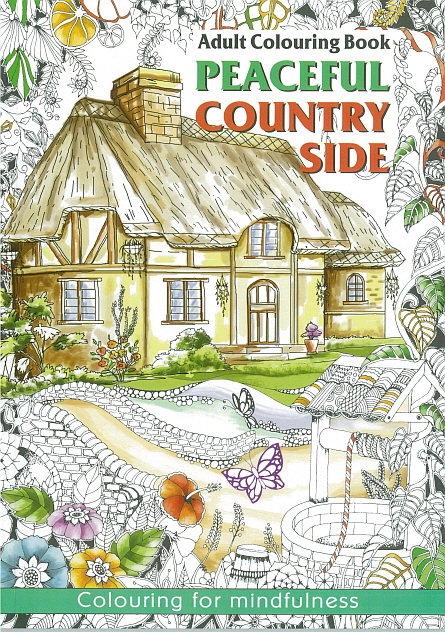 Adult Colouring Book - Peaceful Countryside