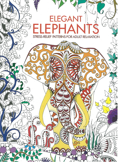 Adult Colouring Book - Elegant Elephants
