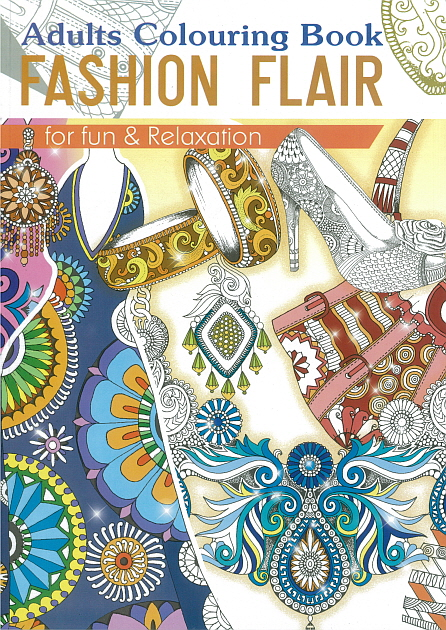 Adult Colouring Book - Fashion Flair