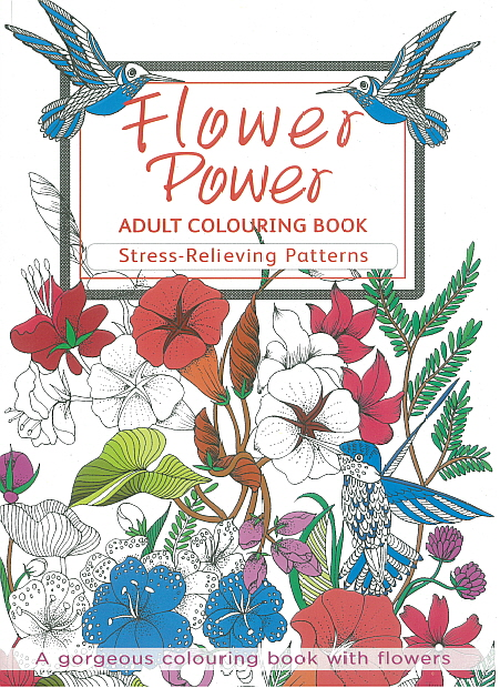 Adult Colouring Book - Flower Power