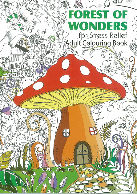 Adult Colouring Book - Forest of Wonders