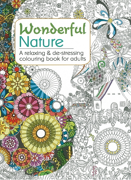 Adult Colouring Book - Wonderful Nature