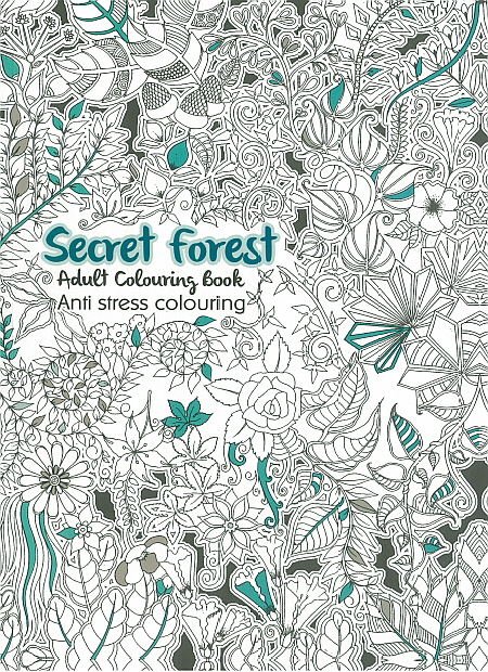 Adult Colouring Book - Secret Forest