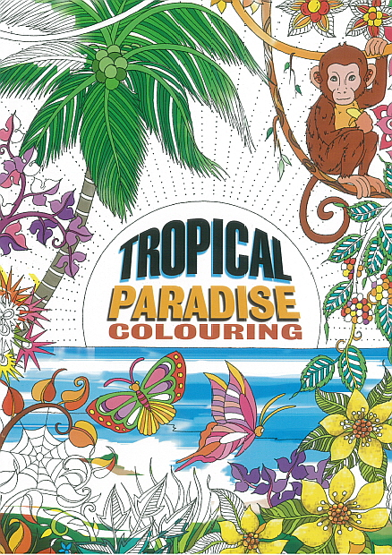 Adult Colouring Book - Tropical Paradise