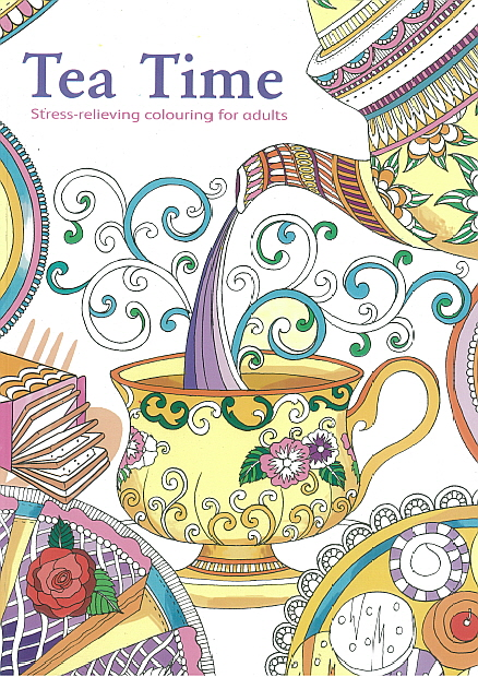 Adult Colouring Book - Tea Time