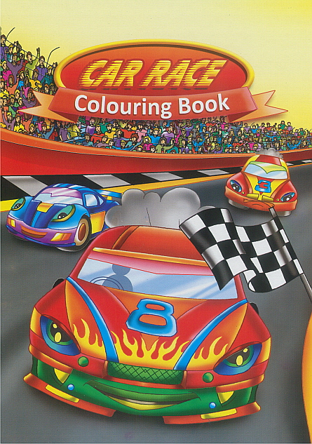 Colouring Book - Car Race