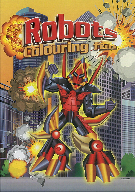 Colouring Book - Robots
