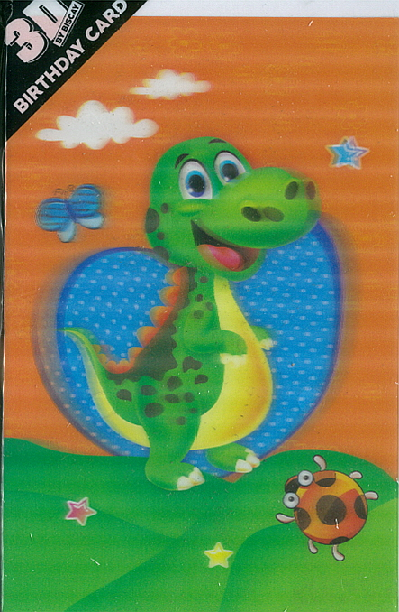 3D Card Dino Cute Boy