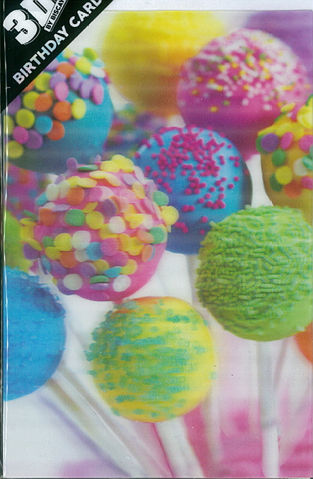 3D Card Ice Cake Pops