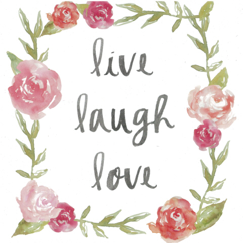 Square Blank Card live laugh love