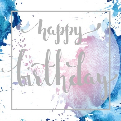 Square Blank Card Happy Birthday