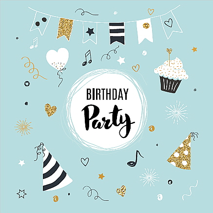 Square Blank Card Birthday Party