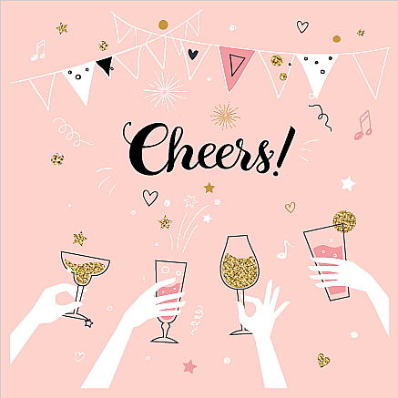 Square Blank Card Cheers!