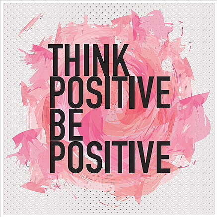 Square Blank Card Think positive be positive