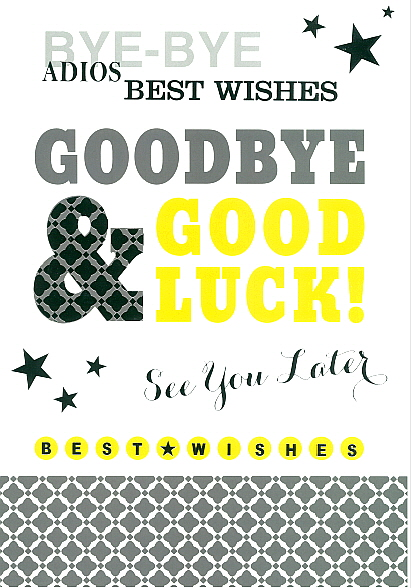 Whoppa Card GOODBYE AND GOOD LUCK