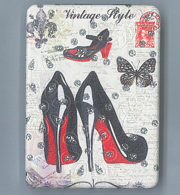 Hand Held Mirror Shoes & Butterfly