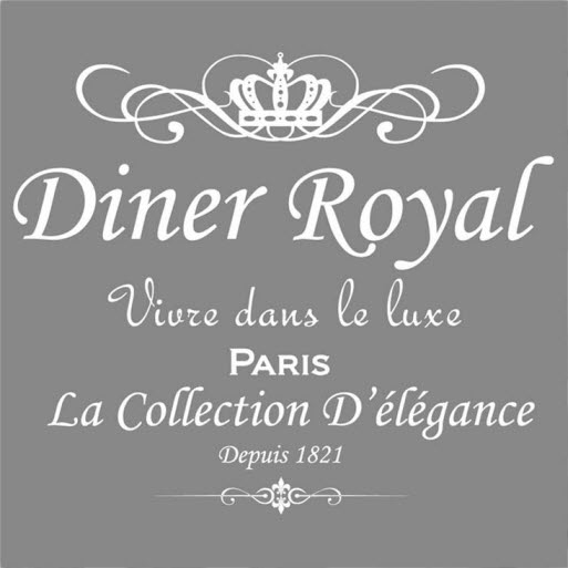 Serviette Diner royal design-gray