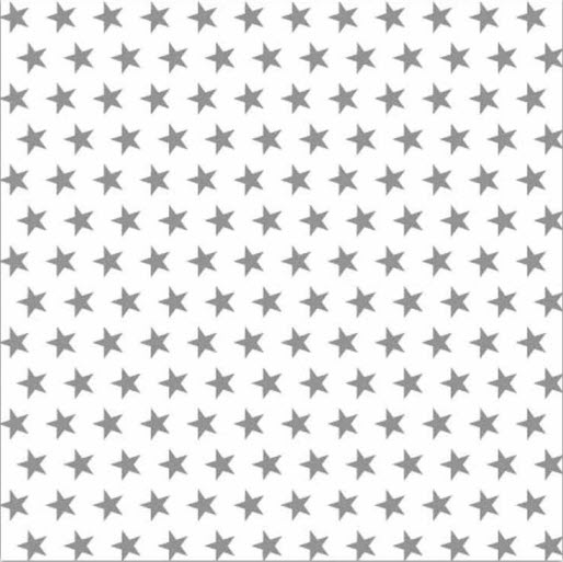 Serviette White lunch napkin w small grey stars