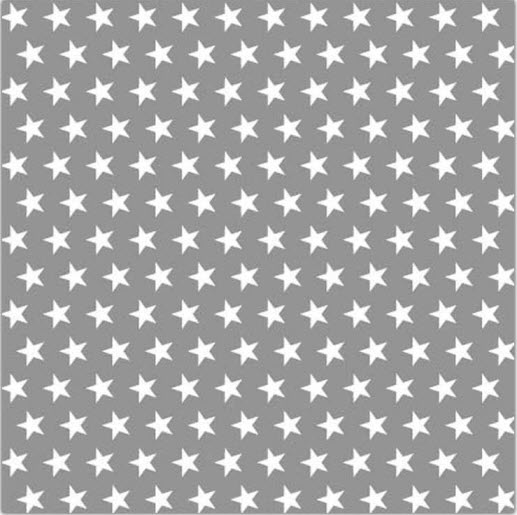 Serviette Grey lunch napkin w small white stars