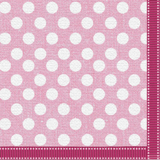 Serviette pink dot fabric design
