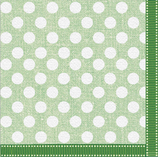 Serviette green dot fabric design