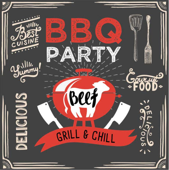 Serviette BBQ party design