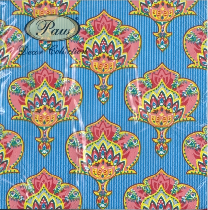 Serviette India style blue