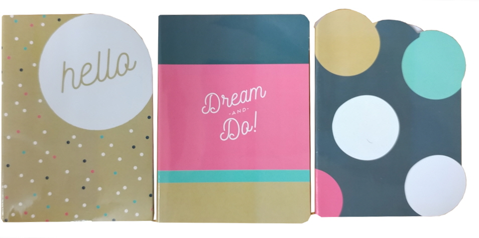 Jotz 3pk Shapecut Notebook