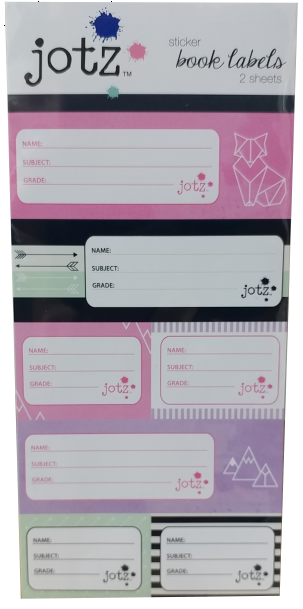Jotz Sticker Name Labels