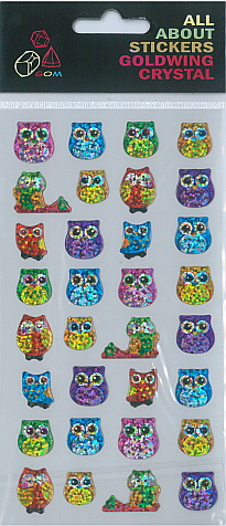 Sticker Crystal Owls