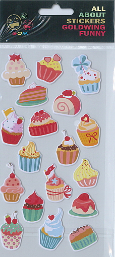 Sticker Funny Cupcakes