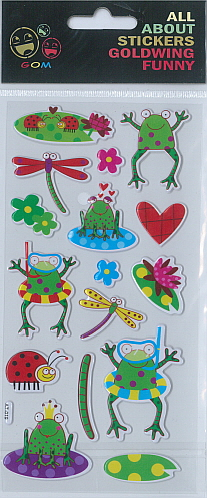 Sticker Funny Frogs