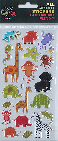 Sticker Funny Zoo Animals