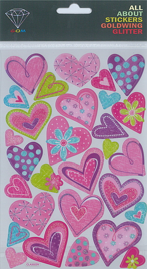 Sticker Glitter Heart