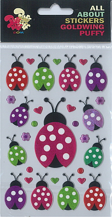 Sticker Puffy Ladybugs
