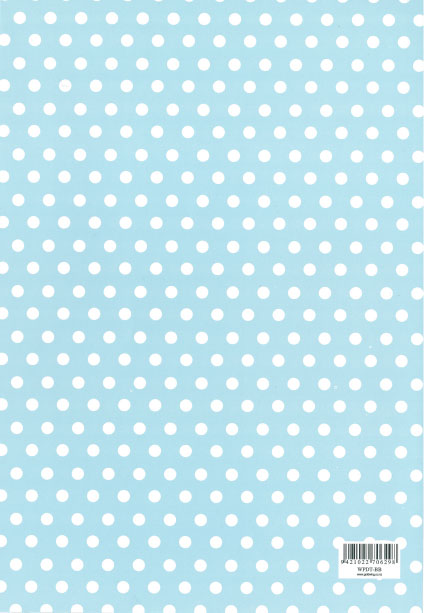 Folded Wrapping Paper Dot Baby Blue