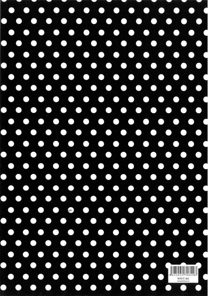 Folded Wrapping Paper Dot Black