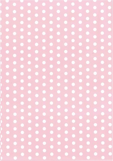 Folded Wrapping Paper Dot Baby Pink