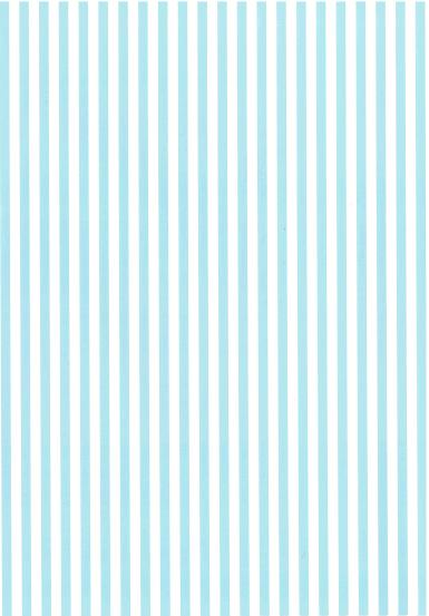 Folded Wrapping Paper Stripe Baby Blue