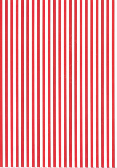 Folded Wrapping Paper Stripe Red