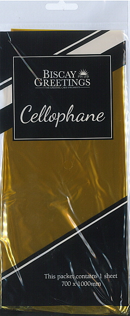 Cello Wrap (700x1000mm) Yellow