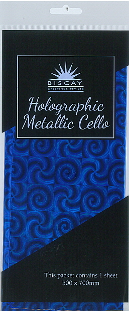 Holographic Wrap Blue(500x700mm)