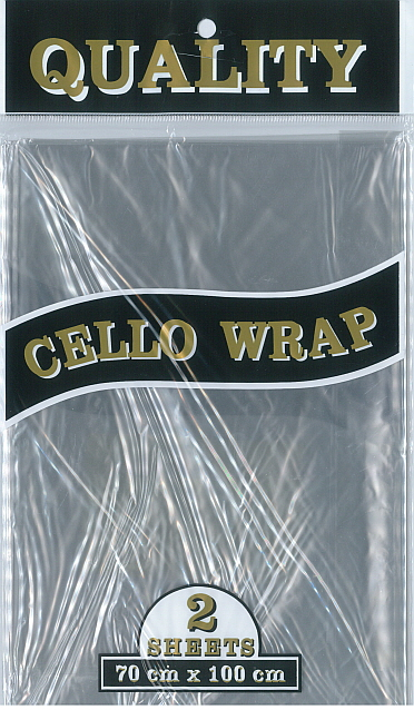 Cello Wrap (700x1000mm) Clear