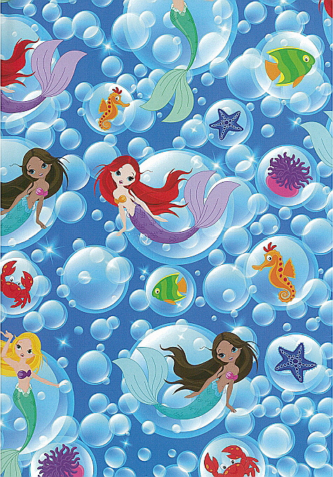 Folded Wrapping Paper Mermaids