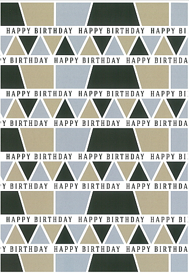 Folded Wrapping Paper Happy Birthday
