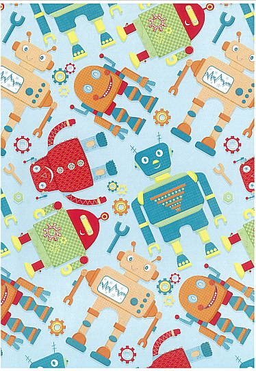 Folded Wrapping Paper Robots